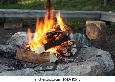 A camping fire