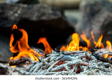 Camping fire.