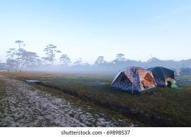 Camping in a fog