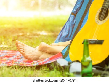 camping and love