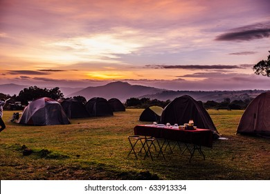Camping near Ngorongoro Crater, Tanzania