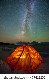 Camping Night at Grand Teton
