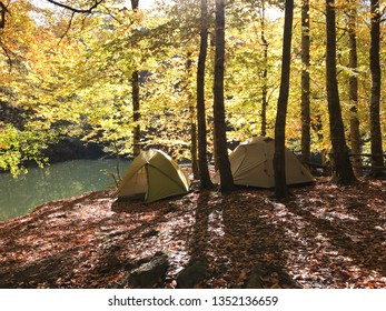 Camping on Autumn at Yedigoller National park