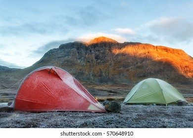 Camping on the Kungsleden Hiking Trail in Sweden in Autumn