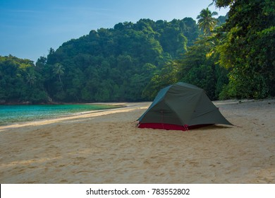 Camping on a tropical island