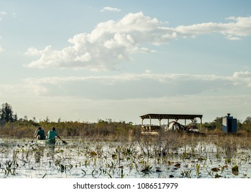 Camping Platform on the water in National Wildlife Refuge