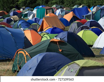 Camping sites with huge number of tents