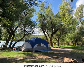 Camping in southern Arizona at Patagonia Lake State Park.