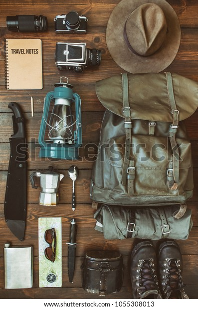 camping-stuff-arranged-on-wooden-600w-10