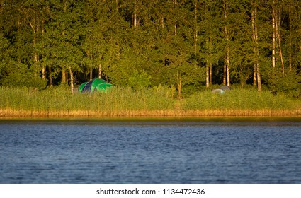 Camping with tent Netherland