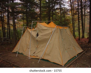 Camping tent at a camping site