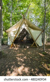 Camping Tent in the Woods