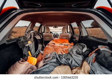 Camping in the trunk of a car