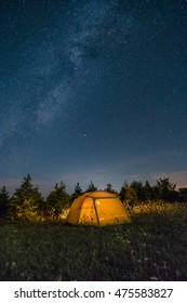 Camping under the stars