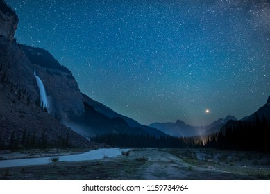 Camping Under The Stars and by Takakkaw Falls