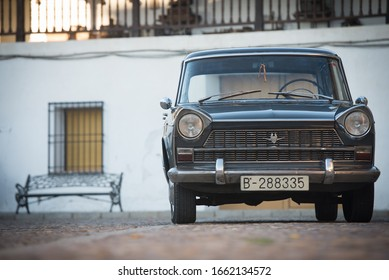 Campo de Criptana, Ciudad Real, Spain, 12/11/2014. The SEAT 1400 C or also called anagrams (one thousand four hundred) was a tourist car produced under the Fiat license between 1960 and 1964.