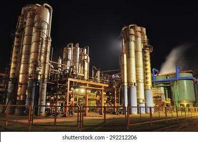 Campo Florido, Minas Gerais, Brazil :?? June. 26. 2008 : sugar mill and ethanol manufacturing Plant, Minas Gerais, Brazil