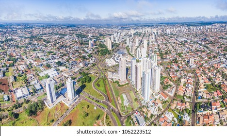 Campo Grande, Brazil - March 22, 2018: Aerial view from the city of Campo Grande on a beautiful day.