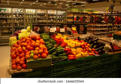 Campo Grande - MS, Mato Grosso do Sul, Brazil - March 5, 2020: Carrefour Supermarket, one of the largest supermarket chains in Campo Grande/MS, in Brazil