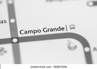 Campo Grande Station. Lisbon Metro map.