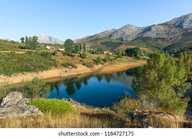 Camporredondo reservoir near Alba de los Cardanos, mountains of Palencia, Spain