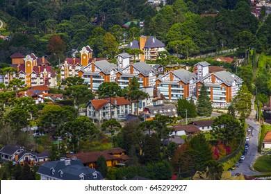 Campos do Jordao Brazil city skyline