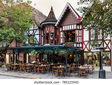 Campos do Jordao, Sao Paulo, May 6, 2013: A touristic city with German influence and a European like climate, it receives a lot of tourists during winter and offers options of hotels and restaurants.