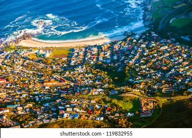 Camps Bay, Cape Town seen from a high angle