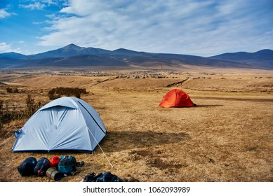 Campsite in Bulati during hike Ngorongoro Conservation Area Nationnal park Highlands with Masai Guide The Crater Highlands (Ngorongoro Highlands) are a region along the East African Rift in the Aru