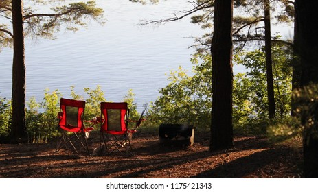 campsite by the lake