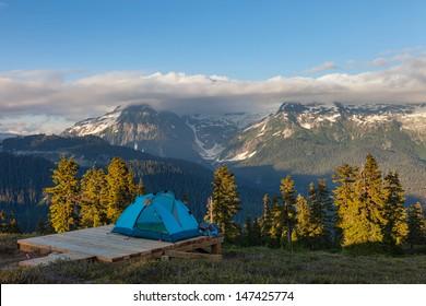 Campsite in the Mountain