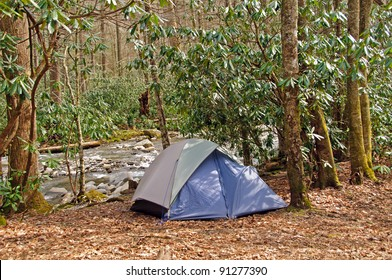 Campsite on Cabin Creek in the Great Smoky Mountains