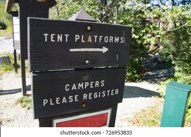Campsite Welcome Information Sign