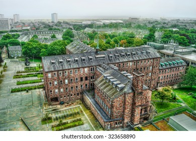 Campus and main building of the university in Aberdeen, HDR-technique