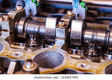 Camshaft close-up photo