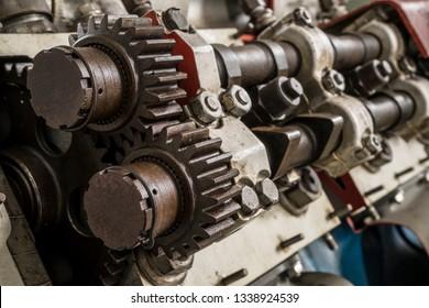 Camshaft of a diesel engine.