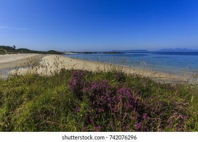 Camusdarach Beach in the Highlands of Scotland lies between Arisaig and Mallaig