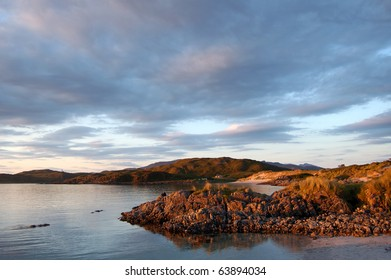 Camusdaroch, near Arisaig, Scotland. The beach where the film Local Hero was made caught in evening light