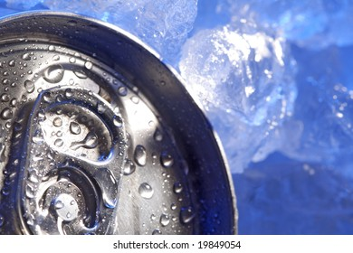 can of beer in ice