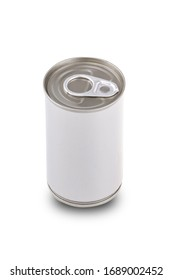 Can container food isolate on white background