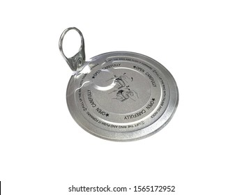 Can lid isolated on white background with copy space