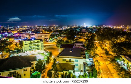 Can Tho, Viet Nam - Nov, 12 2017  Can Tho city at night