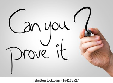 Can you prove it hand writing with a black mark on a transparent board