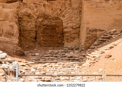 """The Canaanite gate """"Gate of the three arches"""" in Tel Dan, Israel"""