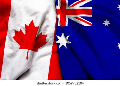 Canada and Australia flag together