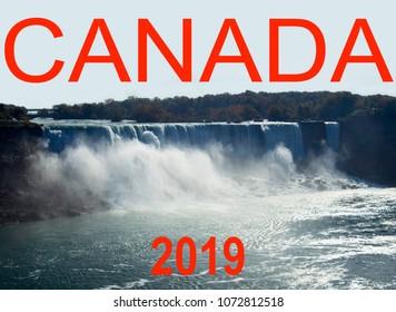 Canada Calendar 2019, Niagara Falls, Us site