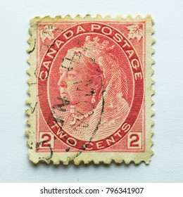 Canada - CIRCA 1899 - vintage 19th century two cents Canada Postage stamp #77 features Queen Victoria