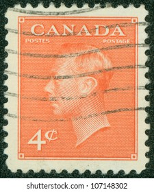 CANADA - CIRCA 1949: stamp printed by Canada, shows King George VI, circa 1949