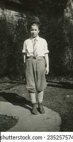 CANADA - CIRCA 1950s: An antique photo shows portrait of a teenager boy.