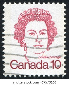 CANADA - CIRCA 1972: stamp printed by Canada, shows Elizabeth II, circa 1972